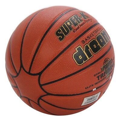 SUPER-K 14 Panel Composite PU Leather Basketball Street Game Ball Outdoor Size 7