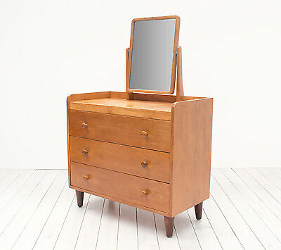 Gordon Russell Oak Dressing Table by David Booth Vintage Mid Century Retro