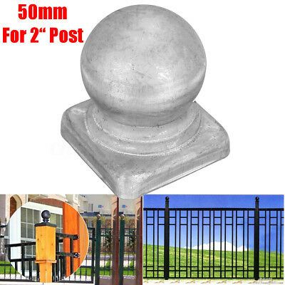5Pcs 50mm / 2'' Metal Round Ball Square Epoxy Fence Post Caps for 2'' POSTS Art