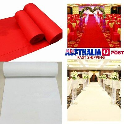 Red White Large Carpet Wedding Aisle Floor Runner Hollywood Awards Party Decor