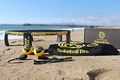 New Spikeball Pro Kit with Backpack, 2 Pro Balls, Pump, & Set. Spike Ball Game
