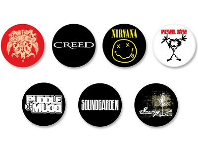 Lot Badge Button Ø38mm Logo Grunge Bands Groupe