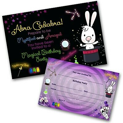 Magic Show Invitations Personalised Birthday Party Invites