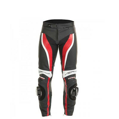 RST Tractech Evo II 1444 Leather Motorcycle Trousers Red