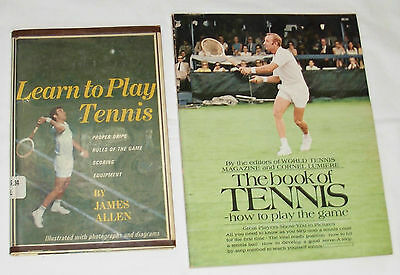 Learn to Play Tennis (Hardcover) / The Book of Tennis (Paperback) 2 Books Lot
