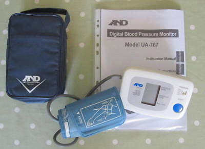 A&D Blood Pressure Monitor Upper Arm Model UA-767V - Cuff 22-23 cm - (RRp58)
