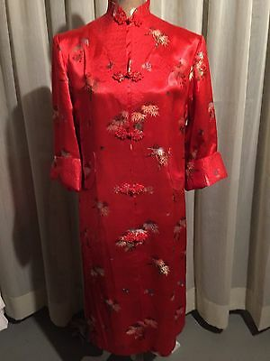Beautiful Embroidered (Size S/M) Women's Chinese Red Robe/Dress