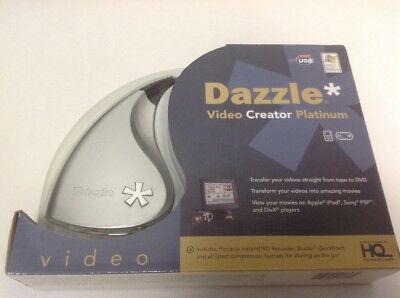New Dazzle Video Creator Platinum Vhs To DVD W/pinnacle Instant DVD Recorder
