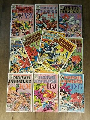 Official Handbook of the Marvel Universe #1 - #12 VF 1983 Comic Book Lot