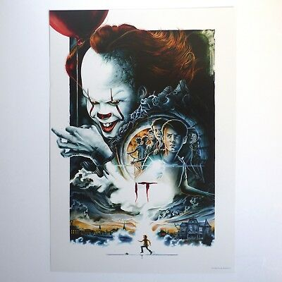 It Poster Pennywise Bill Skarsgård Stephen King 2017 A3