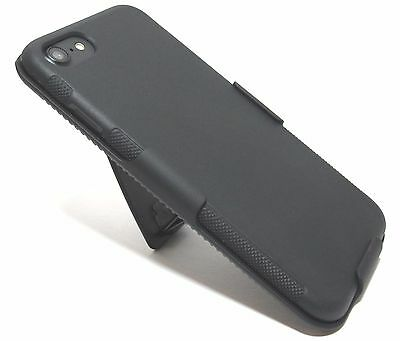 For iPhone 8 Slim Holster Shell TPU Case Cover with Belt Clip - Black