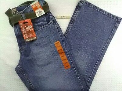 NEW Lee Dungarees Jeans Boys Size 16 Husky Relaxed Bootcut NWT Dark Blue