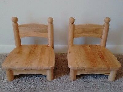 "Wooden pair chairs for infants / toddlers Jonti-Craft  5"" seat, real wood sturdy"
