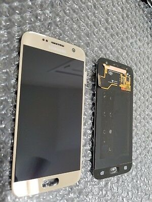Brand New Samsung Galaxy S7 G930A G930V LCD Digitizer Screen Gold Platinum