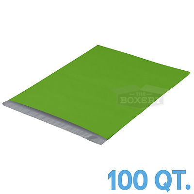 100 - 14.5x19 GREEN POLY MAILERS ENVELOPES BAGS 14.5 x 19 - 2.5MIL The Boxery