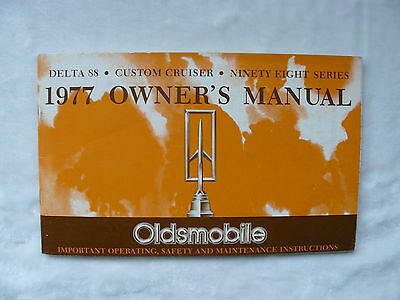 Oldsmobile - 1977 Owner's Manual - US-Betriebsanleitung / operation manual 1976