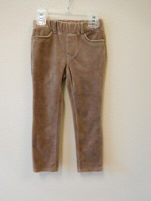 Baby Gap girls 3 3T toddler light brown velour pants EUC