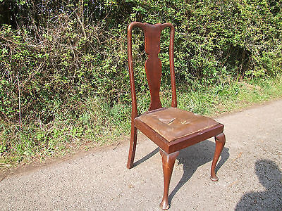 single upholstered wooden  chair