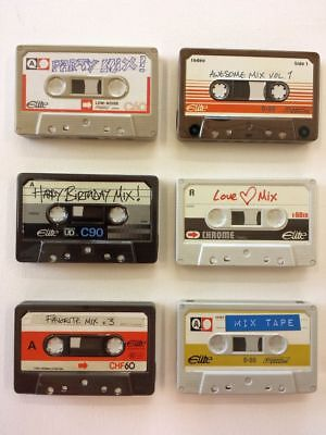 Retro Cassette Mix Tape Tin - Small Travel Gift Tins - Box Home Storage Tapes