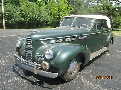 1940 Other Makes green leather 1940 lasalle four-door convertible sedan