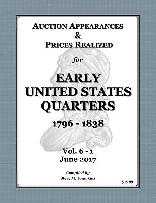 Auction Appearances & Prices Realized - Early United States Quarters 1796 - 1838