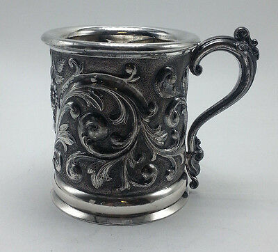 Victorian Silverplate Shaving Mug c. 1880 by Rogers Smith and Co