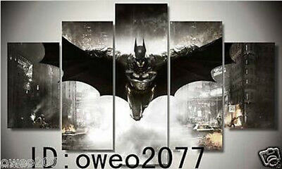 Home Decor Hero batman Oil Painting HD Print On Canvas Wall Art 5pc No Frame