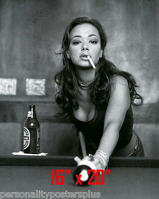 "Leah Remini ~Shooting Pool~Playing Pool~Billiards~16"" x 20""~Poster~ Photo"