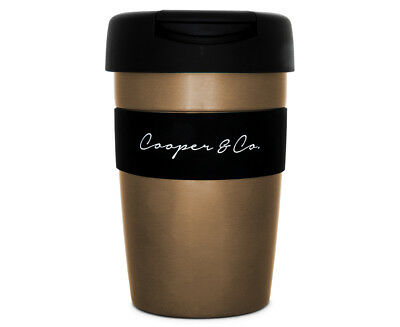 Cooper & Co. Reusable Coffee Cup 350mL - Gold/Black