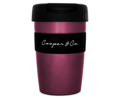 Cooper & Co. Reusable Coffee Cup 350mL - Pink/Black