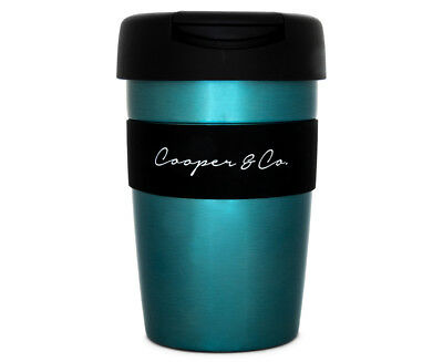 Cooper & Co. Reusable Coffee Cup 350mL - Blue/Black