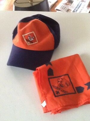 Boy Scouts Tiger Cub. Hat And Neckerchief