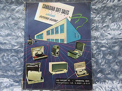 Old 1957-58 Canadian Gift Sales Wholesale Buying Guide Catalog Catalogue