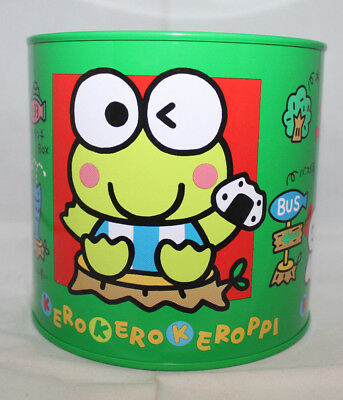 Sanrio Japan Kero Kero Keroppi Large Metal Piggy Bank Round Green Japan 1988 94