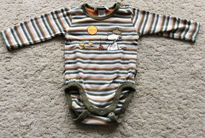 H&M Babybody Snoopy Gr. 68, Gestreift Langarm, Top