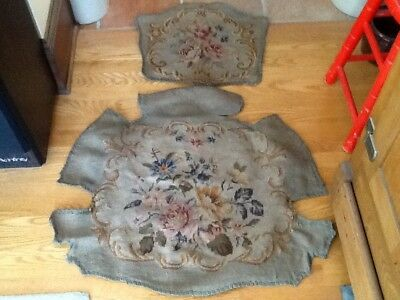 Antique Needlepoint Chair Upholstery Cover