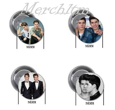 Los Gemeliers - 4 chapas, pin, badge, button, new, B