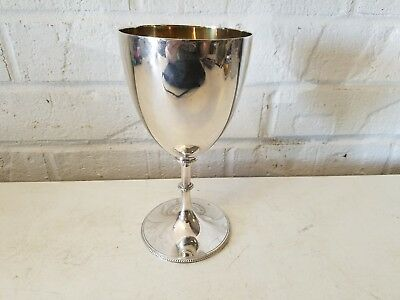 H. Kings Silver Plate Goblet with Gilt Wash