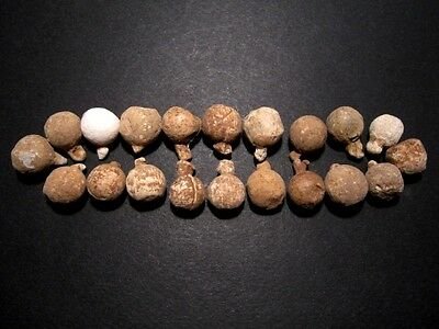 LOT of 20 pcs.AMAZING POST MEDIEVAL MILITARY LEAD BALLS, Metal Detector Finds+++