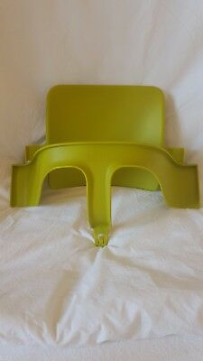 Stokke Tripp Trapp baby toddler set Green great condition weaning feeding seat