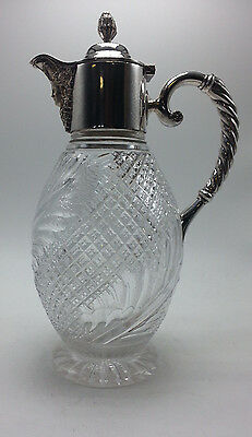 English Silverplate and Cut Glass Claret Jug