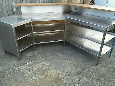 Stainless steel bench shop display counter bar