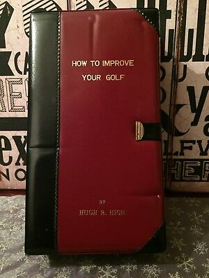 Vintage Flask Hidden In Faux Golf Book