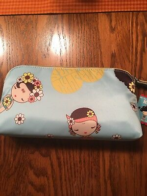 Harajuku Lovers Pouch Wristlet- Blue, Brand New With Tags