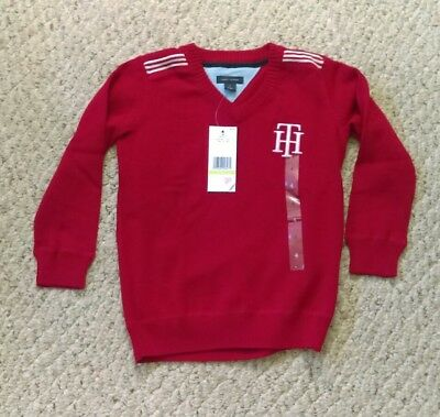 NWT  Tommy Hilfiger Red Sweater Size 4