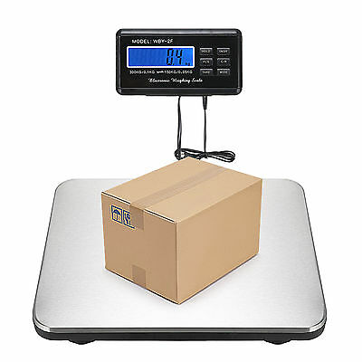 660lbs x 0.1lb Digital Platform Floor Scale LCD Bench Postal Shipping Weight AC