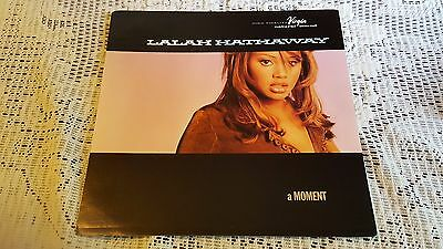 LALAH HATHAWAY DOUBLE SIDED PROMO POSTER 12 x 12 FLAT A Moment RARE 1994
