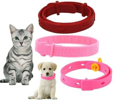 Cat Kitten Flea Collars Red Pink Tick Advance Protection non-toxic Pet Puppy Dog