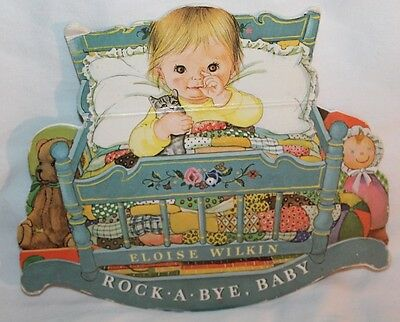 Vintage Children's Rocking Book ROCK A BYE BABY Eloise Wilkin 1981 Random House