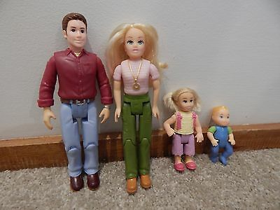 Fisher Price Loving Family Dollhouse Group With Rare Sister